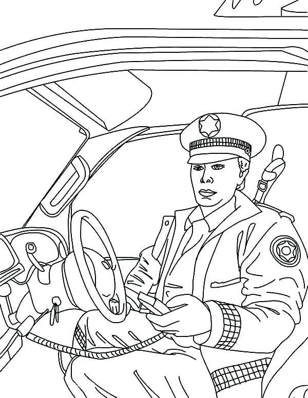600x776 Coloring Pages Police Car Deepart
