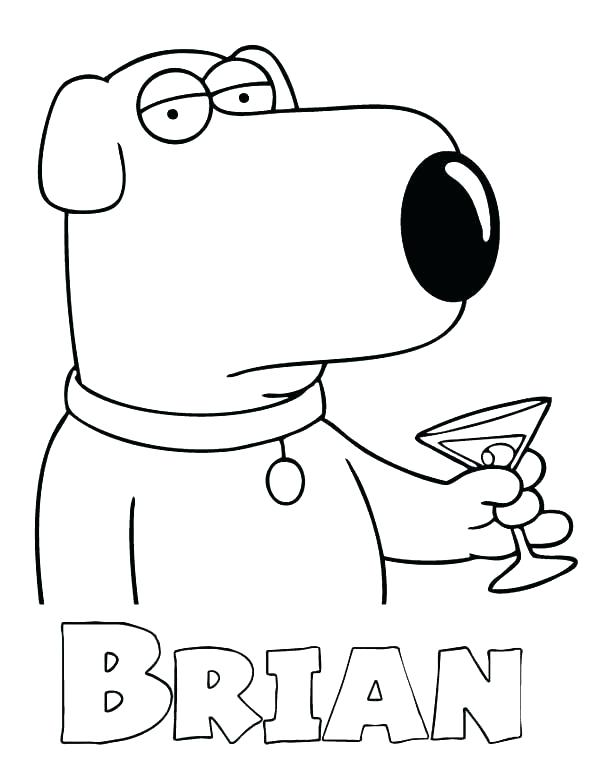 600x776 Family Guy Coloring Pages Griffin Drinks In Page Kids Play Color