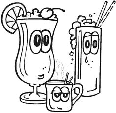 236x230 Fast Food The Big Burger And Drink Coloring Page For Kids Kids