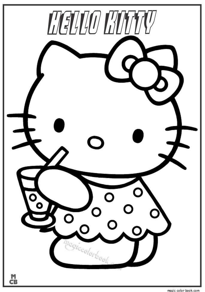 685x975 Kitty Drinking Coco Coloring Pages