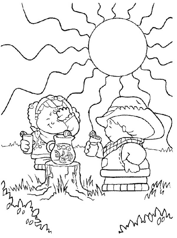 600x804 Little People Drinking Fresh Juice Coloring Pages Batch Coloring