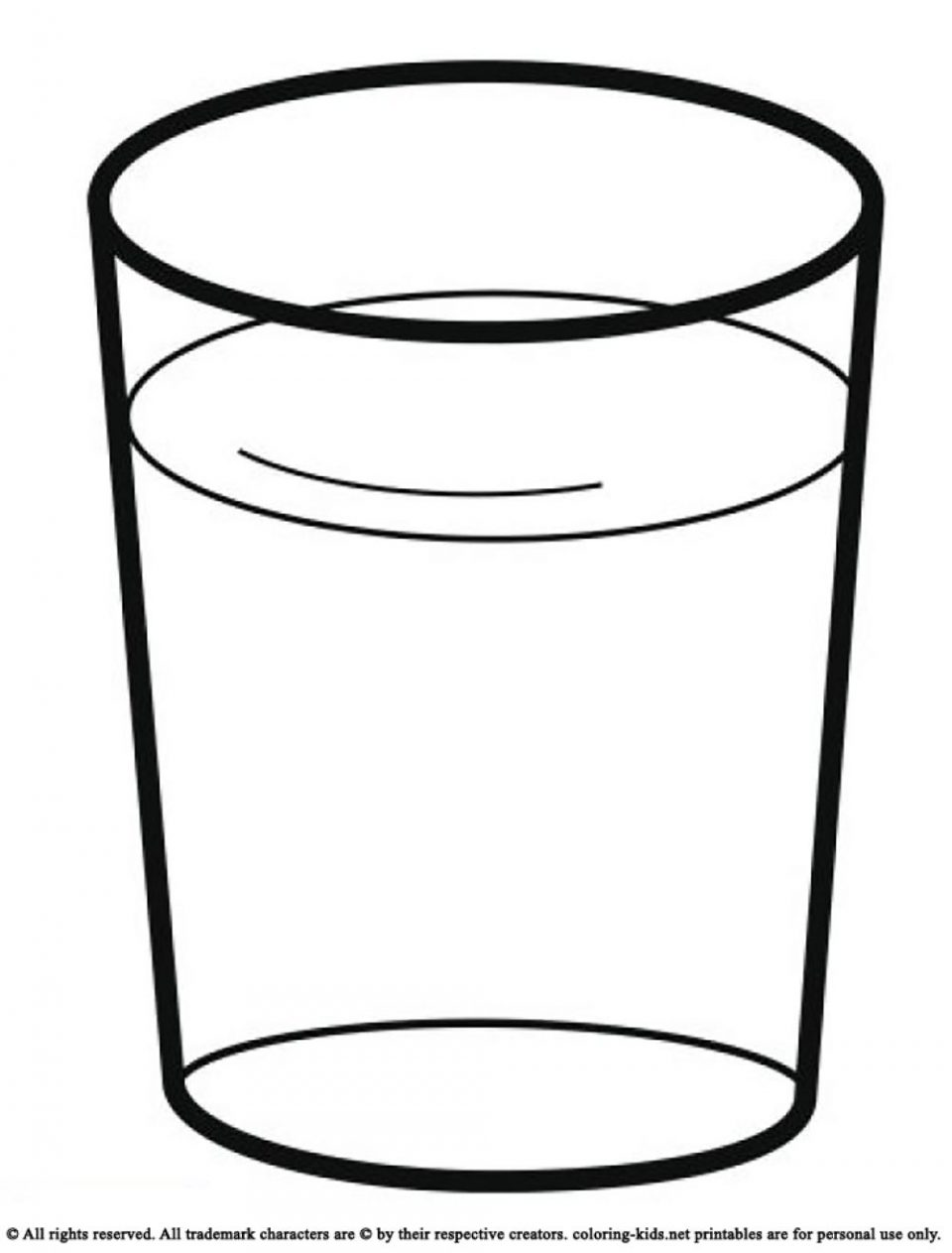 960x1263 Drink Glass Of Water Drinks Coloring Pages Kids Picture