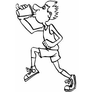 300x300 Drinking Runner Coloring Page