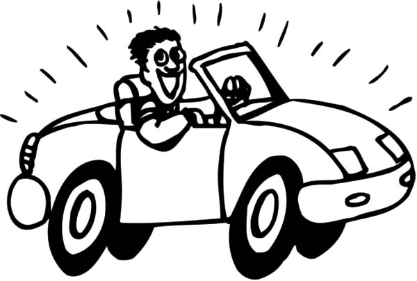 600x405 Driving New Car Coloring Pages Best Place To Color