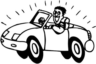 320x216 Driving Car Happy Coloring Pages Cartoon Coloring Pages