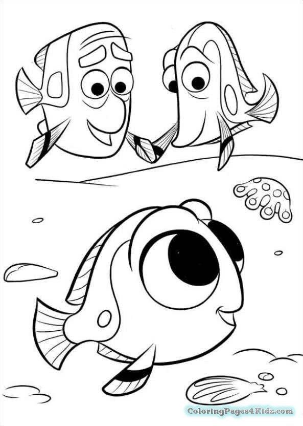 593x832 Finding Dory Coloring Pages Hank Driving Coloring Pages For Kids