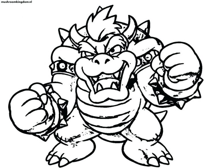 728x582 Mario Kart Driving Coloring Page Super Hat Outline Pages Para Bros