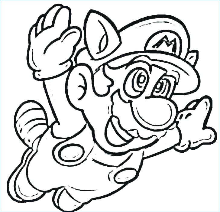 728x701 Mario Kart Mario Driving Coloring Page
