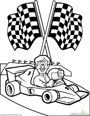 301x387 Race Car Driver Coloring Pages