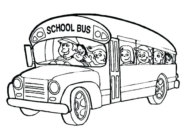 600x450 Simple School Bus Coloring Pages Kids Coloring Pages Simple School