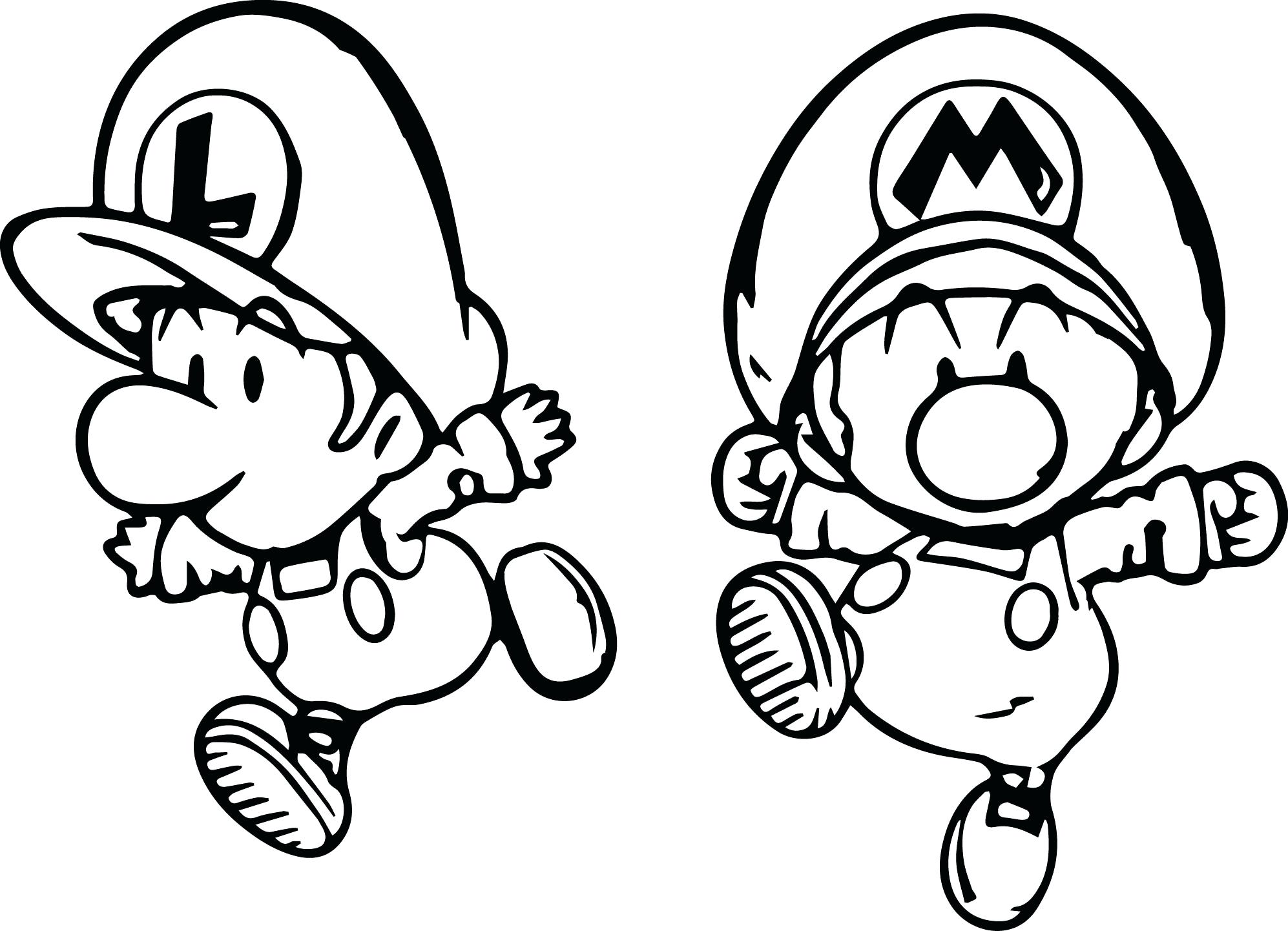 1994x1442 Super And Mini Child Coloring Page Mario Kart Driving Pages Sheet