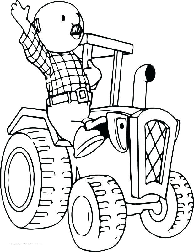 618x805 Tractor Coloring Pages Tractor Coloring Pages Printable Pickles
