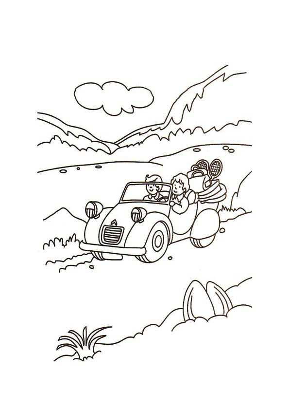 595x842 Car Driving Coloring Page Archives