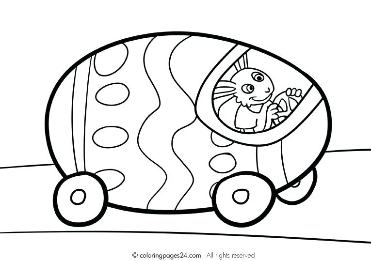 765x539 Coloring Pages Easter Bunny Face Fun Printable Driving Egg Car
