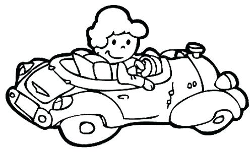500x302 Hello Kitty And Kid Driving Car