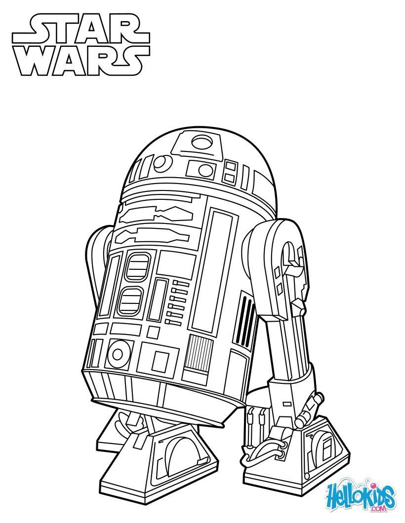 820x1060 Droid Coloring Pages Astromech Page Supe