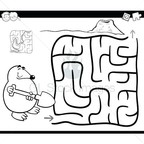 500x500 Maze Coloring Page Maze Coloring Page Drone Maze And Coloring Page