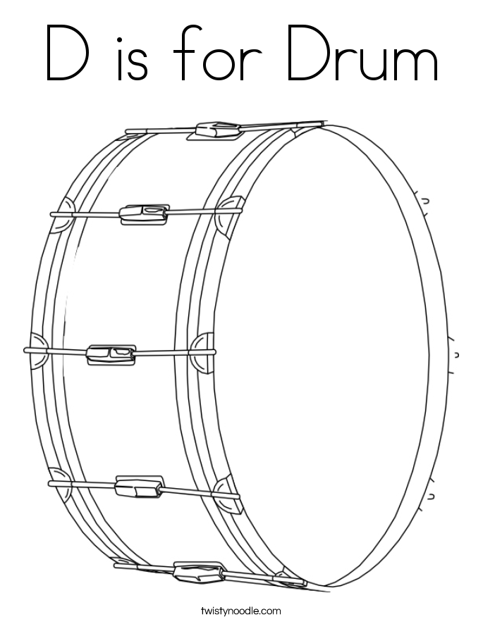 685x886 D Is For Drum Coloring Page