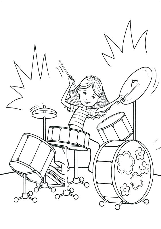 560x794 Drum Coloring Page Drum Coloring Pages Snare Drum Coloring Page