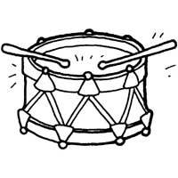 200x200 Drum Coloring Page Fascinating Drum Coloring Page Musical