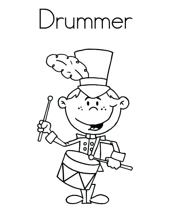 600x776 Drum Coloring Pages Drum Coloring Pages Coloring Pages Musical