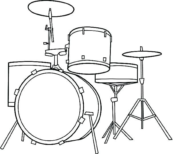 606x540 Drum Coloring Pages Drum Coloring Pages Drum Set Coloring Pages