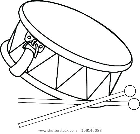 450x430 Drum Coloring Sheet Drum Coloring Pages Drums Coloring Page Snare