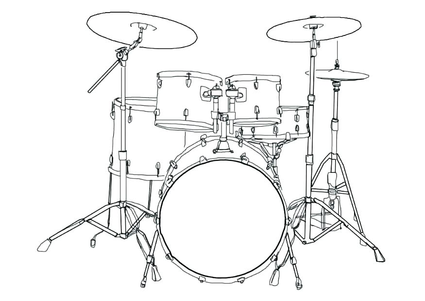 875x620 Drum Kit Colouring Pages Drums Coloring Page Download Large Image
