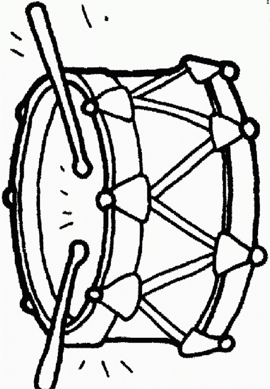 900x1295 Drum Set Coloring Page Free Printable Pages Fancy Drums