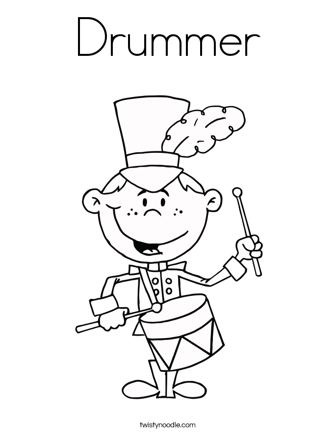 685x886 Drummer Coloring Page