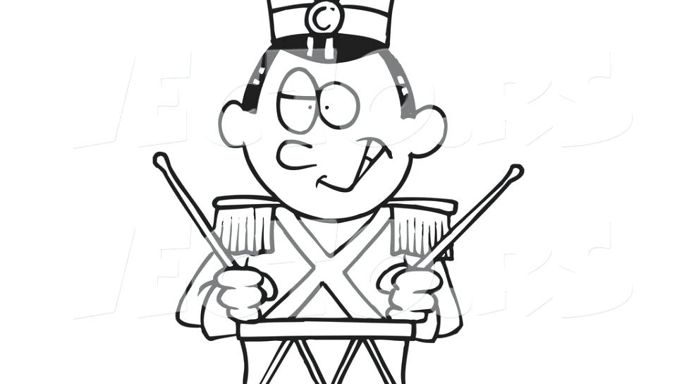 960x544 Drums Coloring Page Cartoon Tin Soldier Drumming Coloring Page