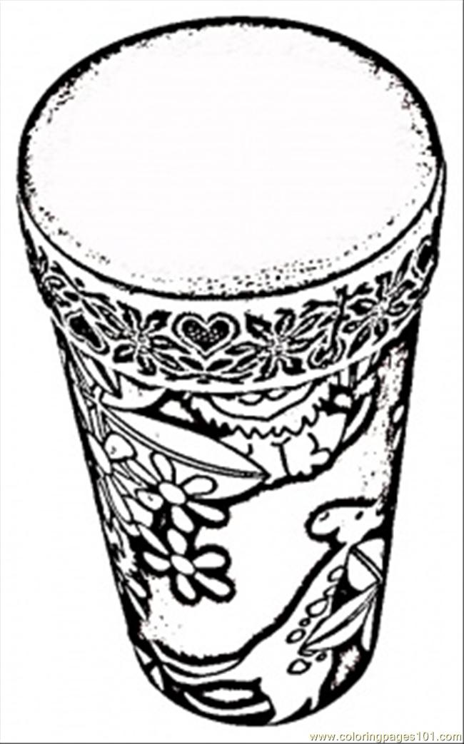 650x1043 African Drum Coloring Page