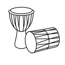 220x220 Drums Coloring Pages