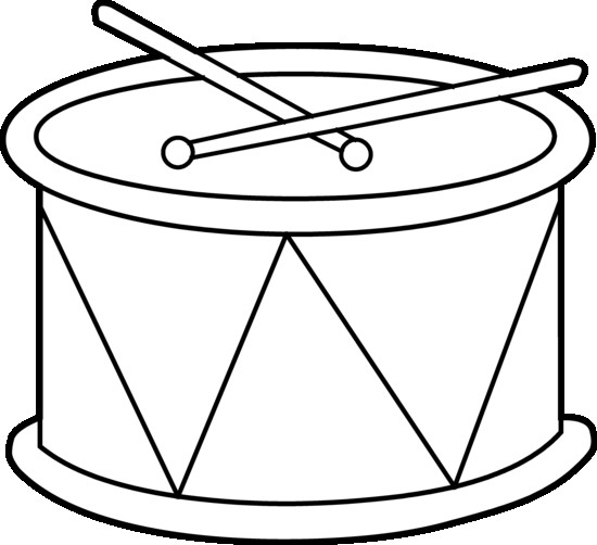 550x502 Marching Drum Coloring Page Free Clip Art Book