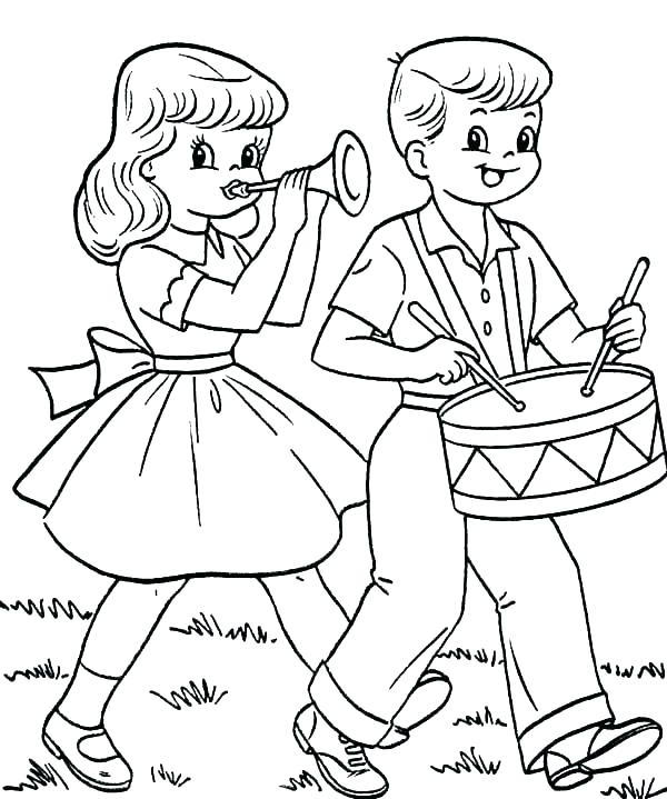 600x719 Drums Coloring Pages