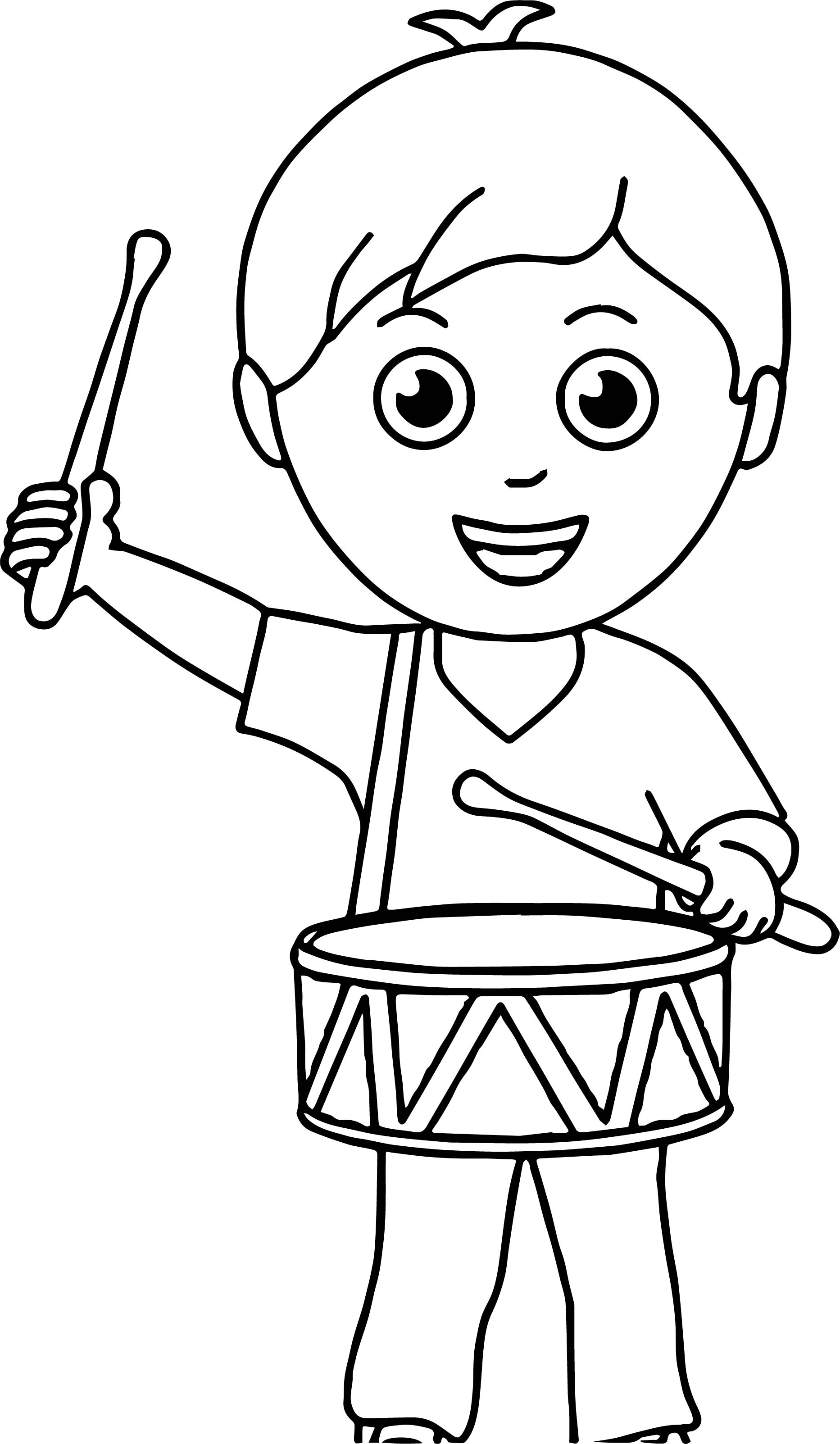 1865x3206 Boy Band Drum Coloring Page Wecoloringpage