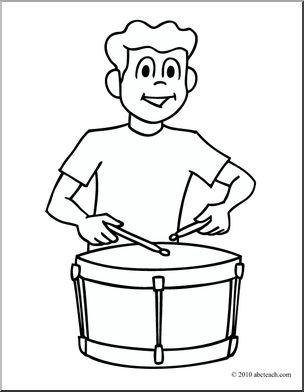 304x392 Clip Art Boy Playing Drum