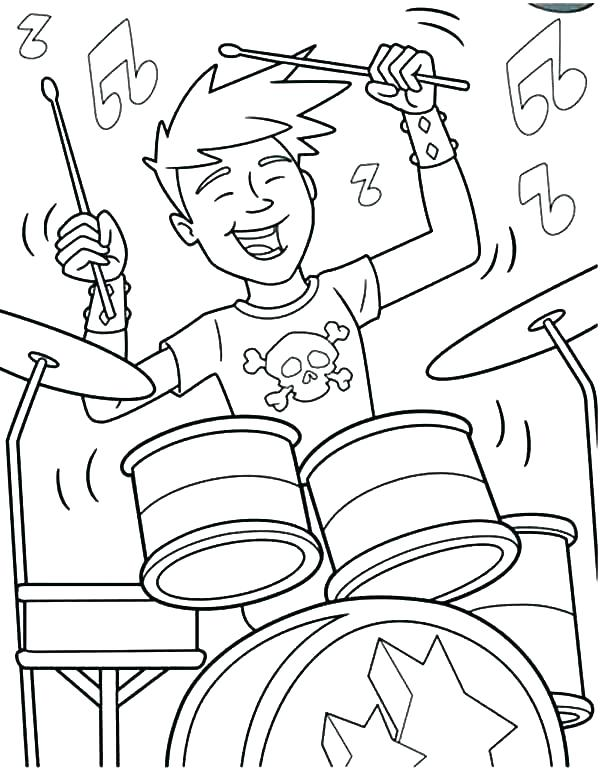 600x772 Drum Coloring Page Drum Set Coloring Page Drum Coloring Page Home