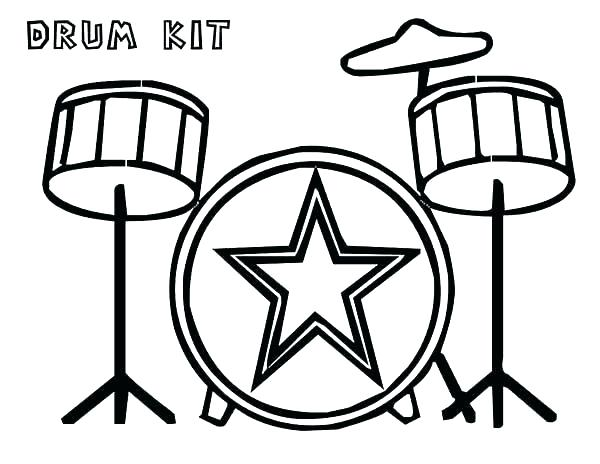 600x464 Drum Coloring Pages Coloring Trend Medium Size Cool Drum Sets Set