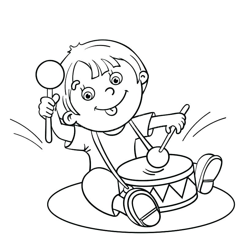 800x800 Drum Coloring Pages Free Coloring Drum Set Coloring Page