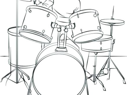 440x330 Drum Kit Coloring Page Coloring Pages Drum Set Coloring Page Drum