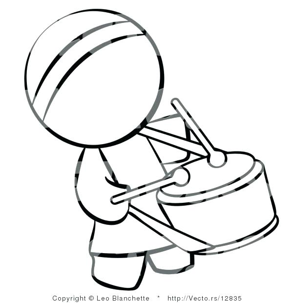 600x620 Drums Coloring Page Drum Coloring Page And Vector Of Drummer
