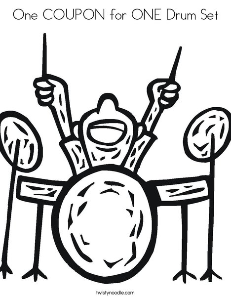 468x605 One Coupon For One Drum Set Coloring Page