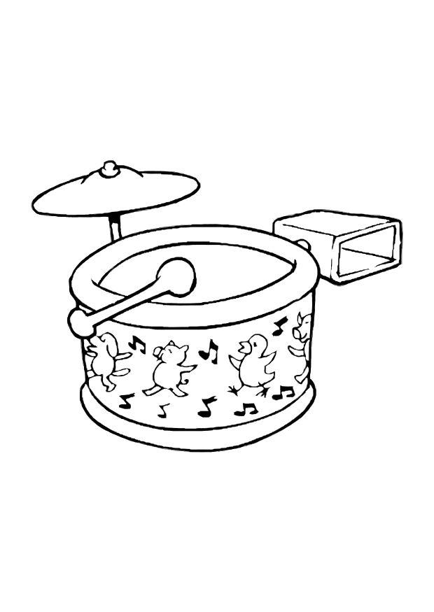 620x875 Coloring Page Drum Set