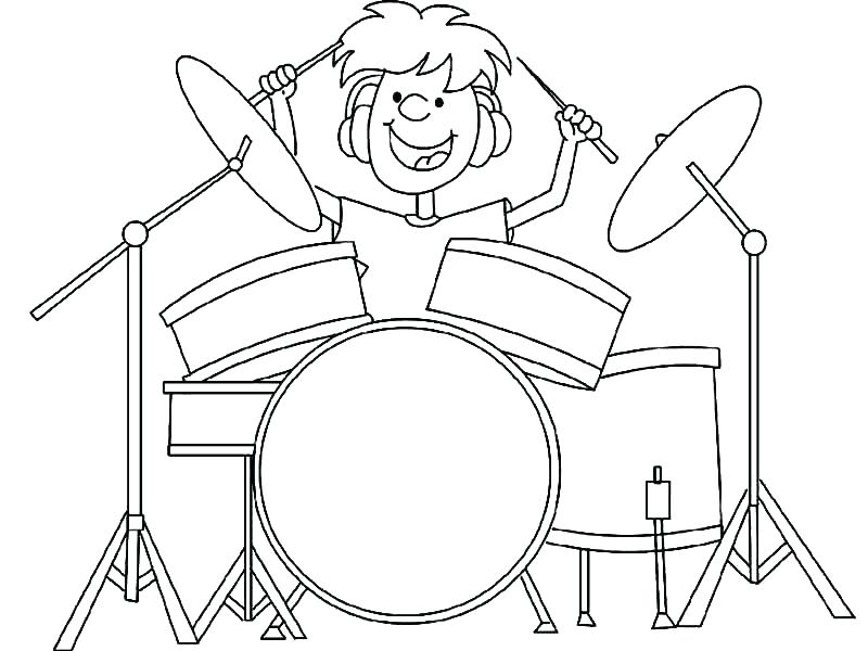 800x600 Drum Coloring Page