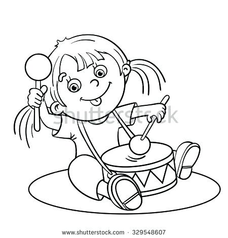 450x470 Drum Coloring Page As Stunning Coloring Page Outline Of A Cartoon