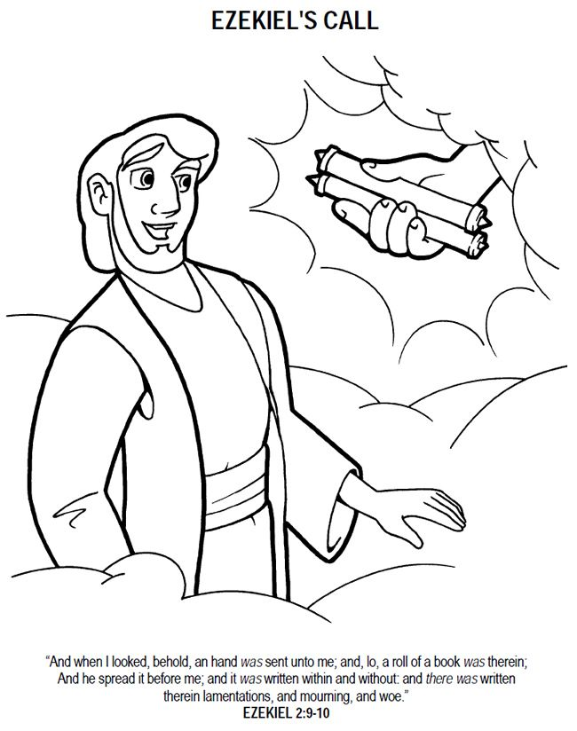 650x824 Ezekiel And The Valley Of Dry Bones Coloring Page Our Bible