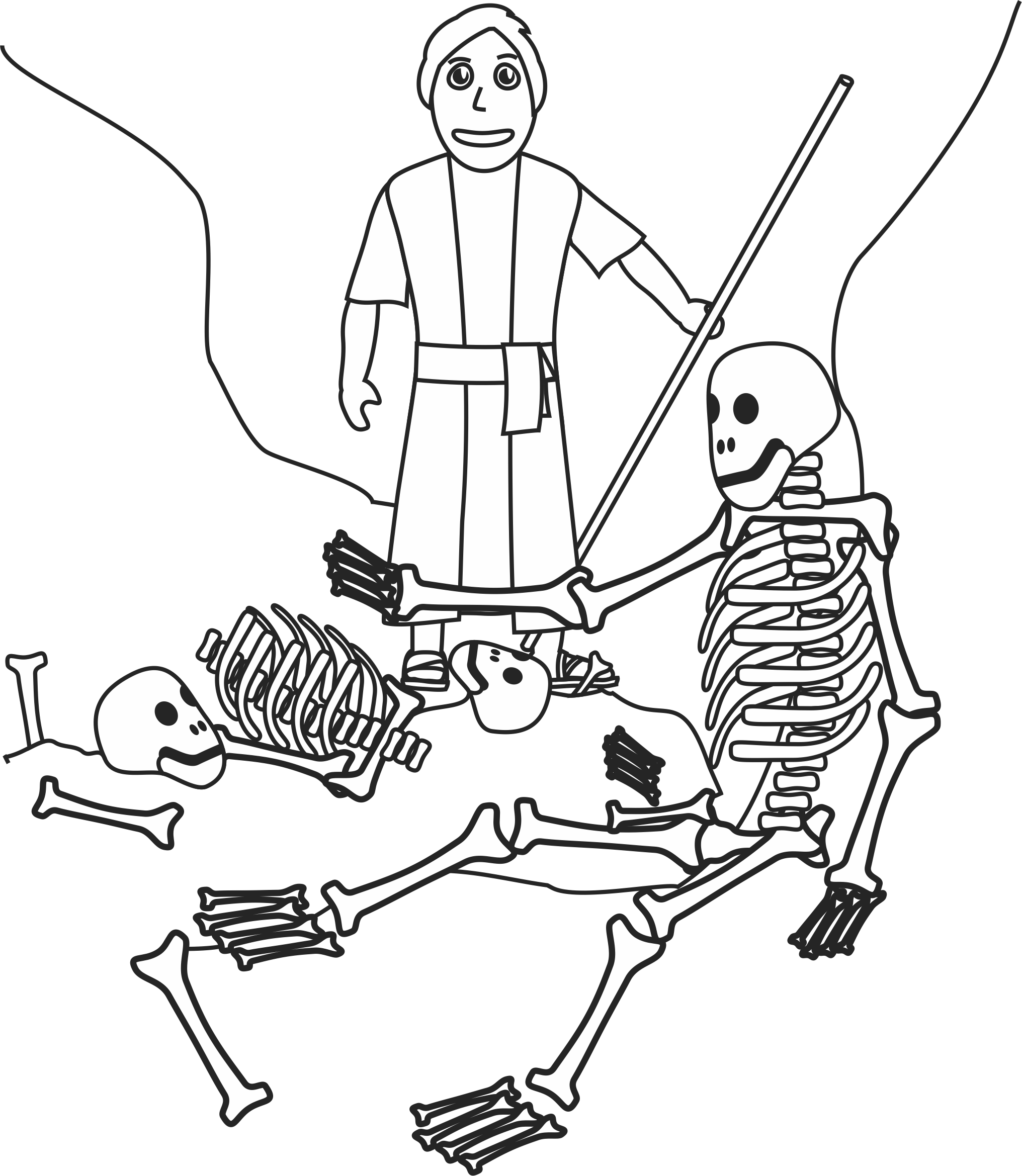 2032x2339 Ezekiel And The Valley Of Dry Bones Coloring Page Our Bible