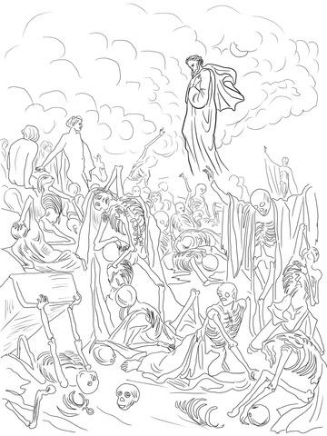 360x480 Ezekiel Dry Bones Coloring Page Ezekiels Vision The Valley