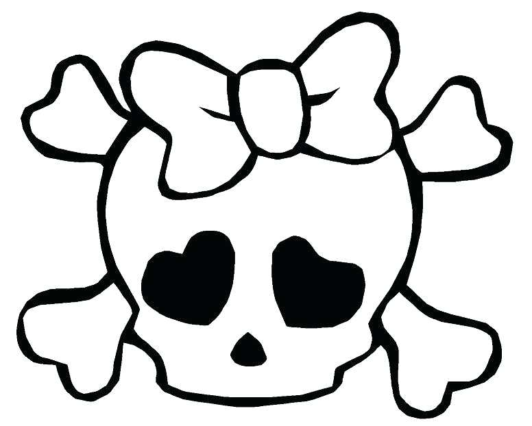 776x622 Skull And Bones Coloring Pages Vanda
